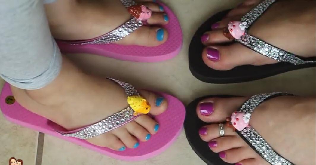Shopkins Flip Flops