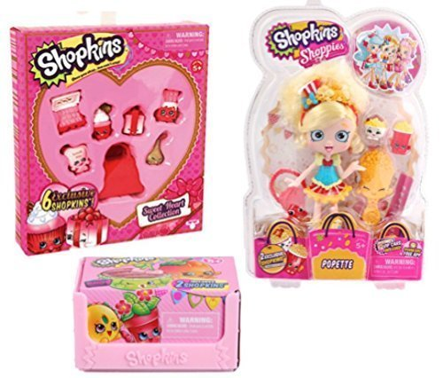 Valentine S Day Toys R Us : Shopkins shoppies valentine s day bundle poppette doll